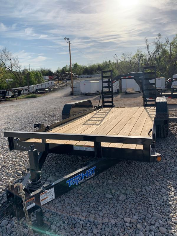 "2021 TOP HAT SSBC 16' X 81"" TANDEM AXLE EQUIPMENT TRAILER"