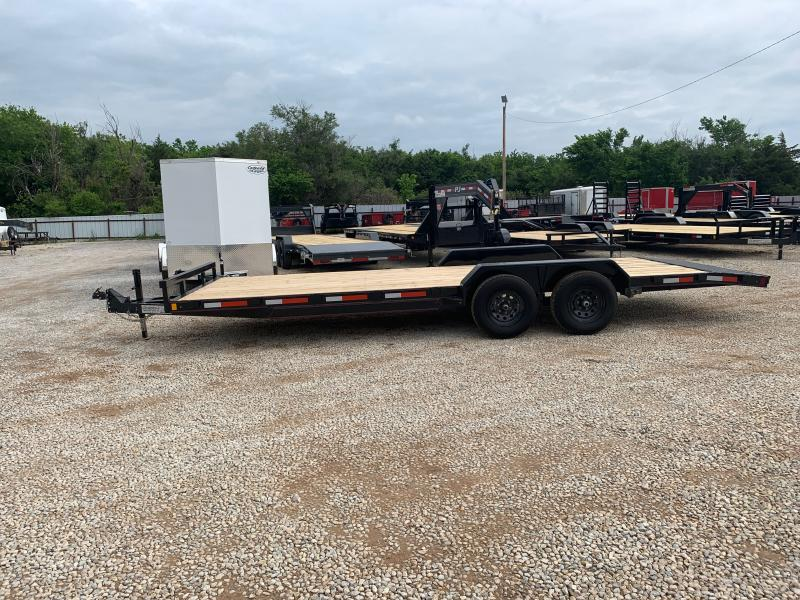 "2021 TEX FAB 22' X 83"" WOOD FLOOR CAR HAULER"