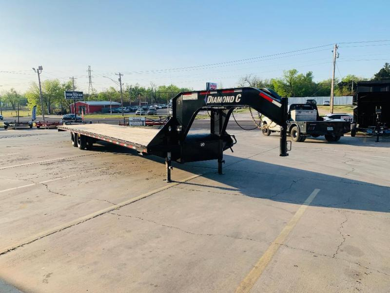 "USED 2019 Diamond C Trailers 40' X 102"" EGINEERED BEAM GOOSENECK FLATBED TRAILER"