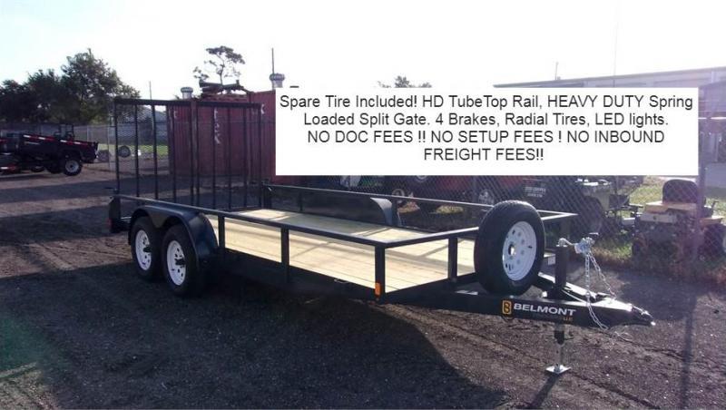 2021 Belmont Trailers UT616-7K 16' Utility Trailer