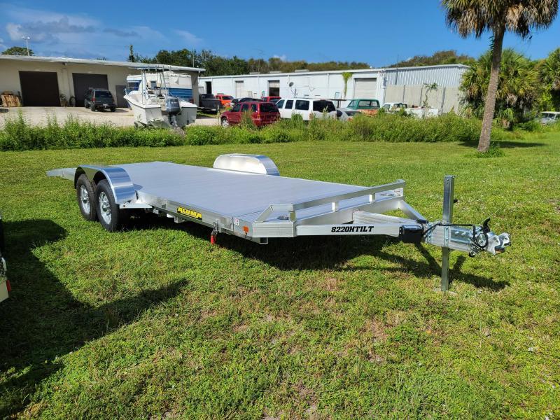 Aluma 8220H Tiltbed Aluminum Car Trailer 9990 LB GVWR