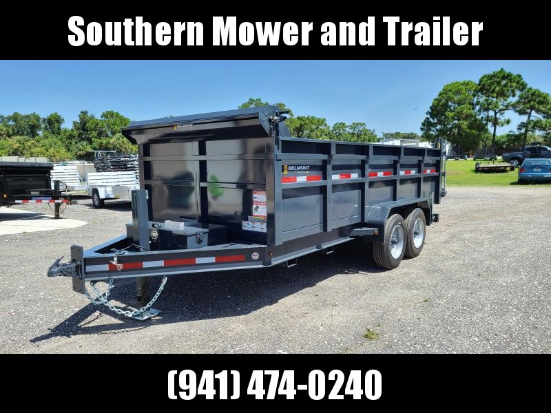 2021 Belmont 81X16 Dump Trailer 16000 LB GVWR Tall Sides