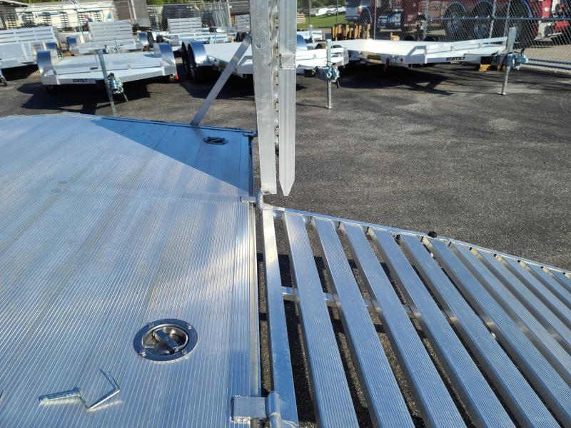2022 Aluma 1024H 24' Deckover Aluminum Trailer Equipment Trailer