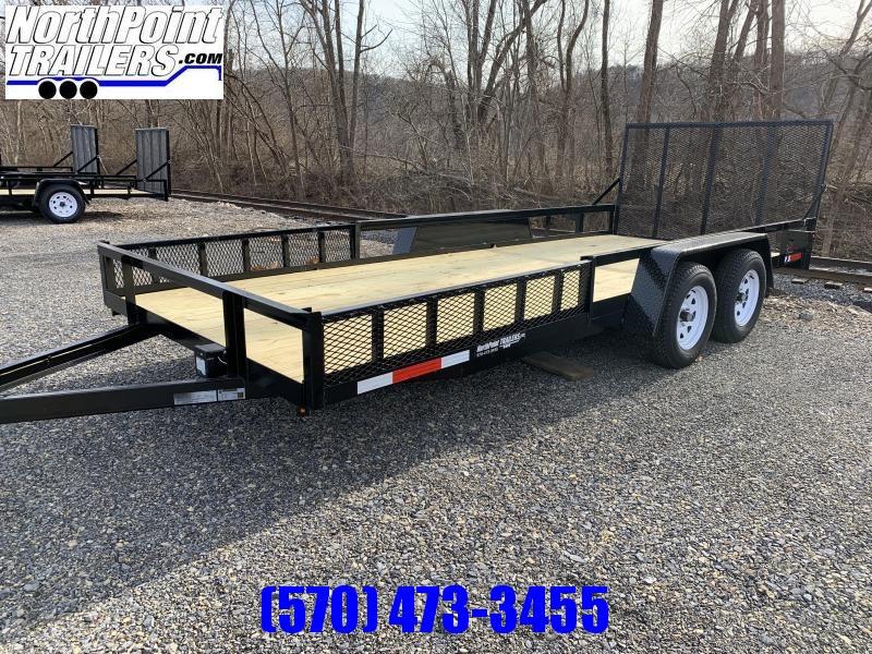 2021 TWF 7x18TA - 18' Landscape w/ Side Load ATV Ramps - 7000 GVWR