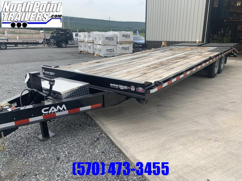 2021 Cam Superline 8CAM820+5 - 25' Deckover Trailer - 18400# GVWR - 8K Axles - Super Ramps - Black