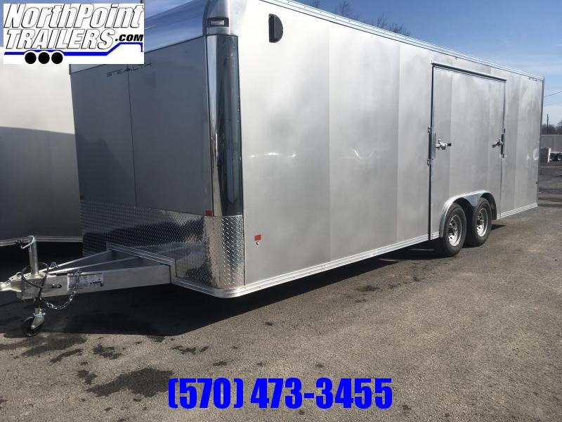 2019 CargoPro Trailers C8x24SCH Enclosed Car Trailer - ELITE ESCAPE DOOR - SILVER