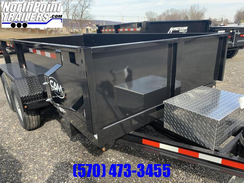2022 CAM Advantage  6 x 12  Dump Trailer - Black - 9998 GVWR