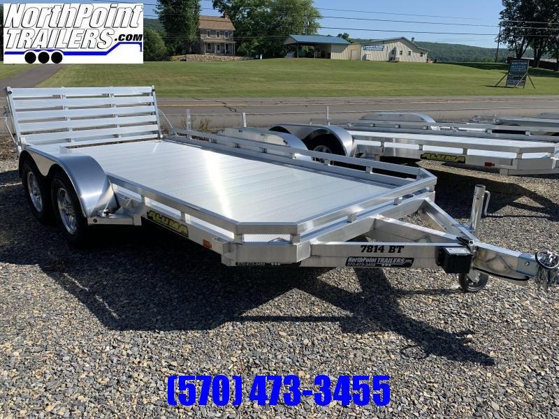 Aluma 7814T -Aluminum Tandem Axle - BI-FOLD TAILGATE