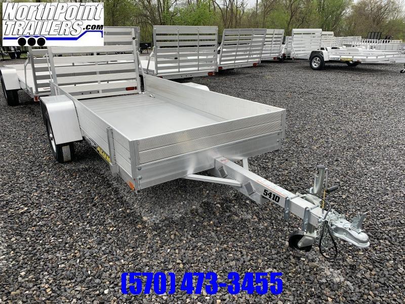 "2021 Aluma 5410 Utility Trailer - B/T Tailgates - w/ 12"" Solid Sides"