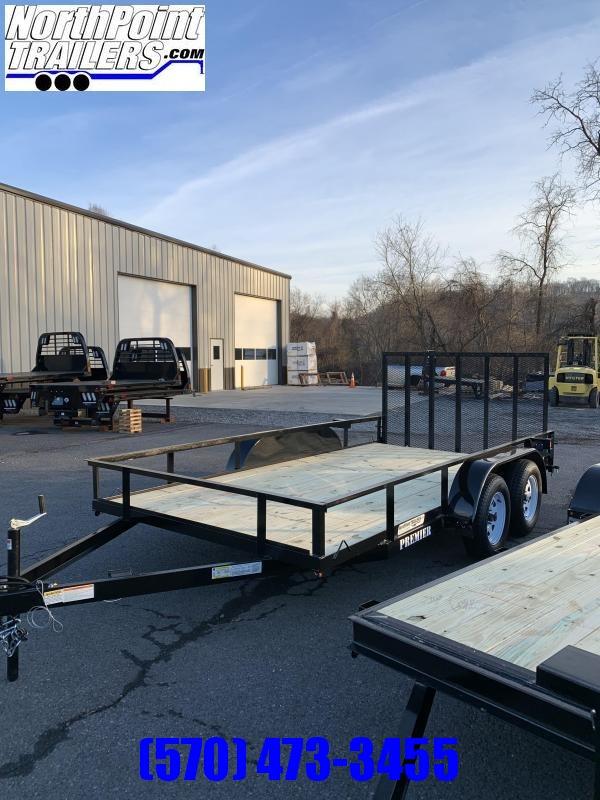 2020 Premier Trailers Inc. 102 x 14 Tandem Axle Utility Trailer