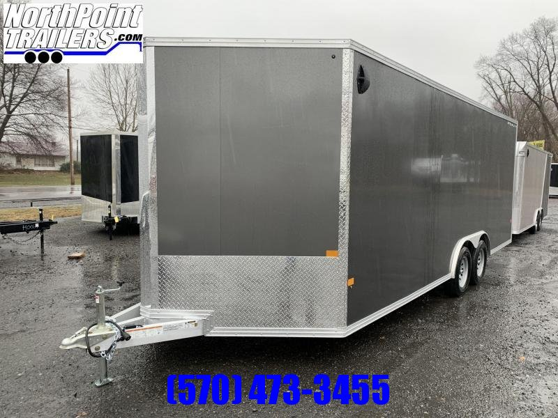 "2021 CargoPro Trailers C8x20S V-Nose Car Hauler - Charcoal - 78"" Rear Door Opening"