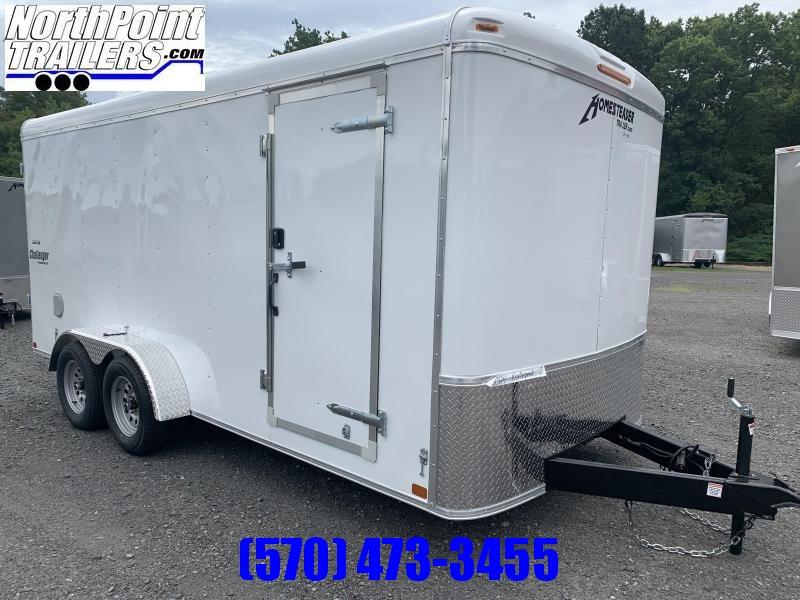 2020 Homesteader 7x16 Challenger Tandem Axle Enclosed Trailer - White - Swing Door