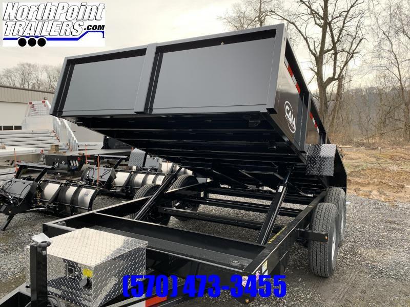 2021 CAM Advantage 7x12 Dump Trailer - 12K Heavy Duty Dump Trailer