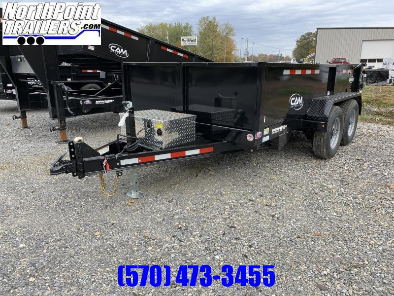 2021 CAM Advantage 6x12 Dump Trailer w/ Ramps