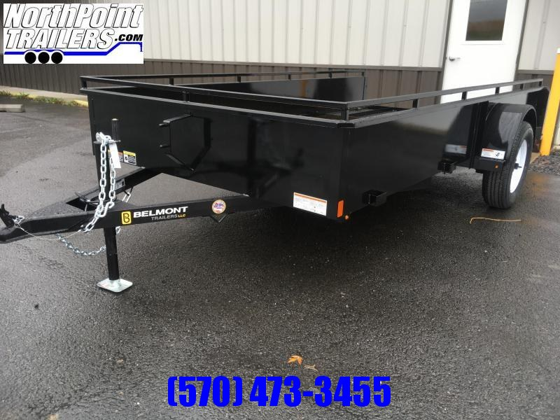 2021 Belmont Machine UT612SS Solid Side **Black** Utility Trailer