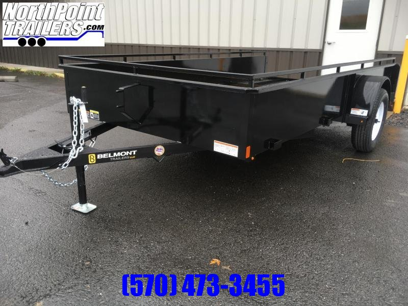 2021 Belmont Machine UT612SS Solid Side **Charcoal** Utility Trailer
