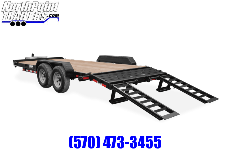 2021 Cam Superline CAM 20' Equip. Trailer w/ Beavertail - 7K Axles Equipment Trailer