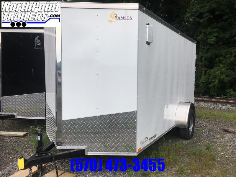 2020 Spartan SP6x12SA Cargo Trailer - White - HD Barn Doors