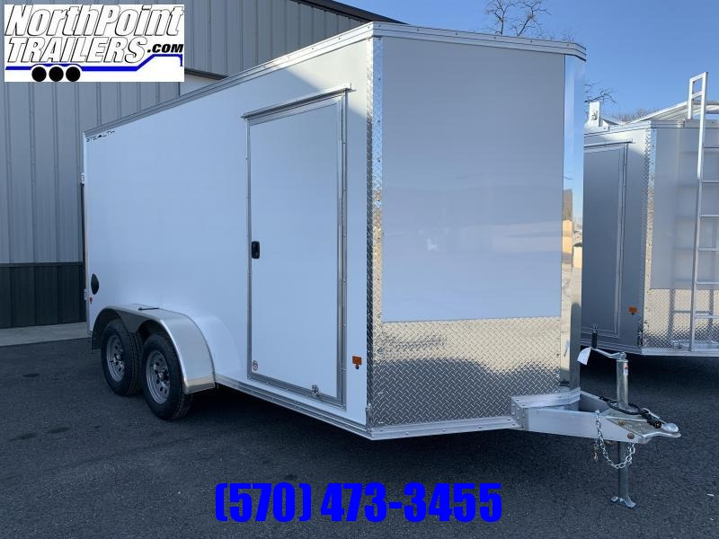 2020 CargoPro Stealth C7x14S-IF - Cargo Trailer - White - BARN DOORS!