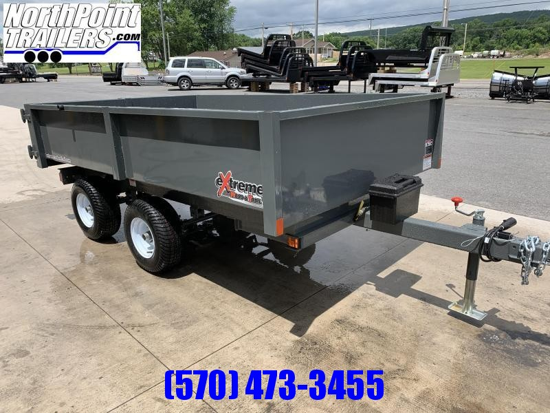 "2021 XRT-418 - 66"" x 108"" Dump Trailer - Barn Doors w/ Slide Out Ramps - GRAY"