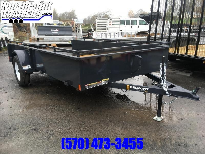 2021 Belmont Machine UT610SS Solid Side **CHARCOAL** Utility Trailer