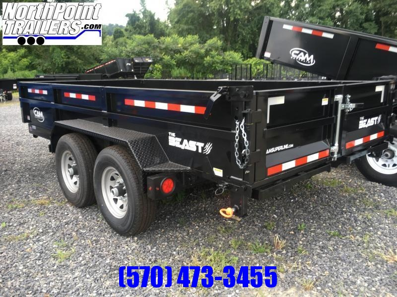 2021 CAM 7x14 Heavy Duty Dump Trailer -7K Axles