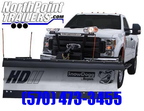 "SnowDogg HD75 II Stainless Snow Plow - 7'6"" Straight Blade"