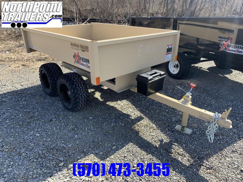 Extreme XT-200 Dump Trailer - OFF-ROAD Use Dump Trailer - TAN COLOR