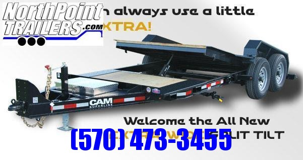 "2022 Cam Superline 7CAM16+5STTXW Split Deck Tilt Trailer - 83"" Width - Removable Fenders"
