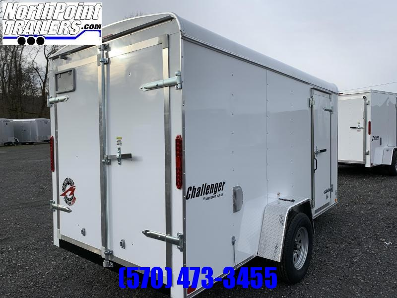 2021 Homesteader 612CS - 6x12 Cargo Trailer - WHITE - Swing Door