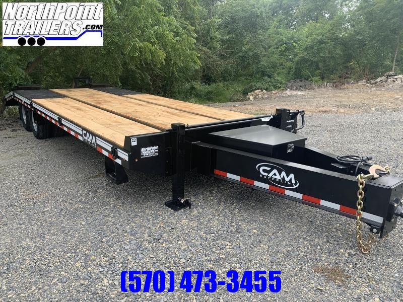 2021 Cam Superline 10 Ton Deckover Heavy Duty Trailer 8.5 x 20 + 5 Electric) Flatbed Trailer