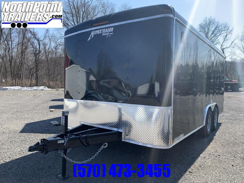 2021 Homesteader 8.5x16 Challenger Trailer_DBL Doors - BLACK - 5.2k Axles - CONTRACTOR OPTIONS