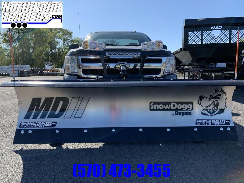 "SnowDogg MD75 Stainless Snow Plow - 7'6"" Blade"