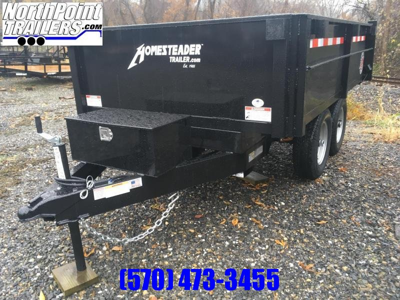 2020 Homesteader 610MB Dump Trailer W/ Curbside Fold Down - Barn Doors - 9950# GVWR