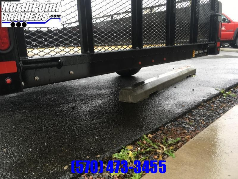 2021 Belmont Machine UT612SS Solid Side **BLACK** Utility Trailer