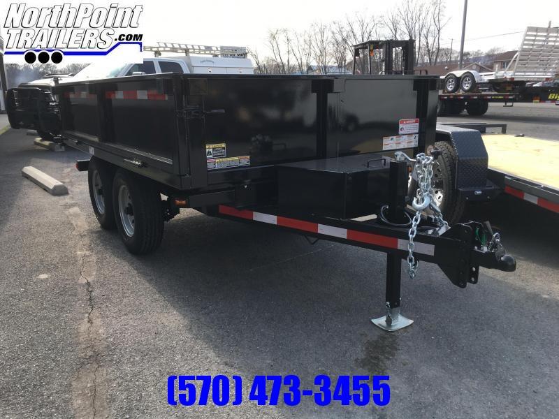 Belmont DT610DO-10K Deckover Dump Trailer - Fold Down Side w/ Barn Doors - Black