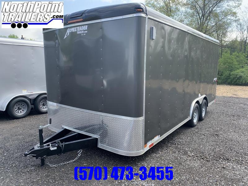 "2021 Homesteader 8x18 Hercules - GRAY - 7'2"" Interior _ Ramp Door"