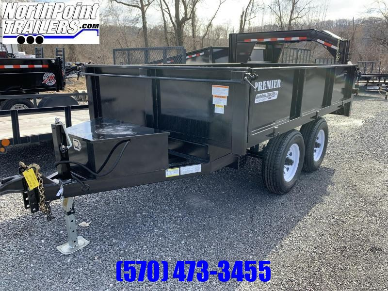 2021 Premier 6x10 Deckover Dump Trailer - FOLD DOWN SIDES - BARN DOOR REAR