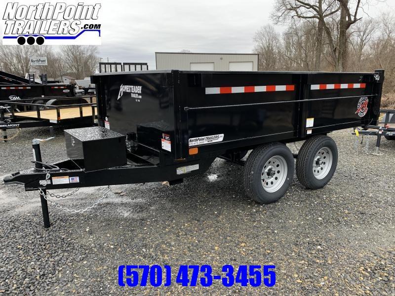 2021 Homesteader 6x10 Deckover Dump - Barn Doors - 7k GVWR