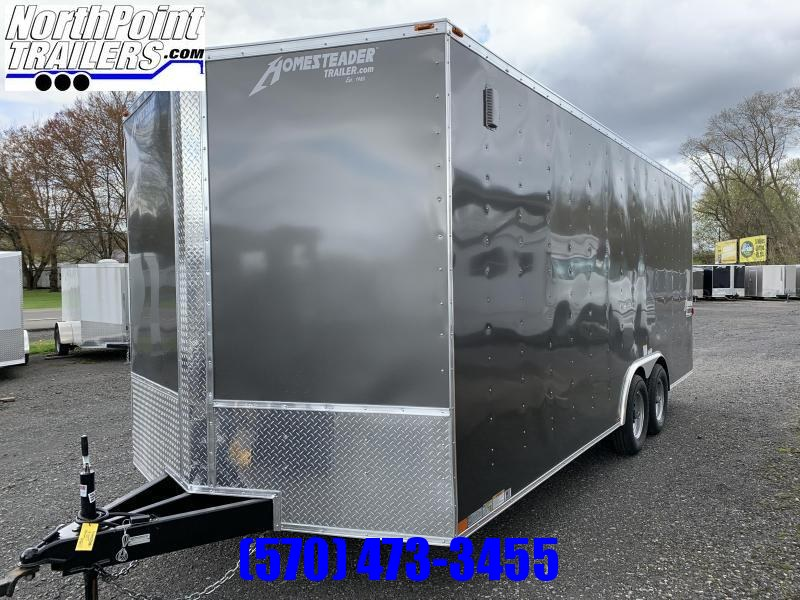 "2021 Homesteader 820IT - 8 x 20' Car/UTV Trailer - Ramp Door -SILVER - 7000 GVWR - 84"" Interior"