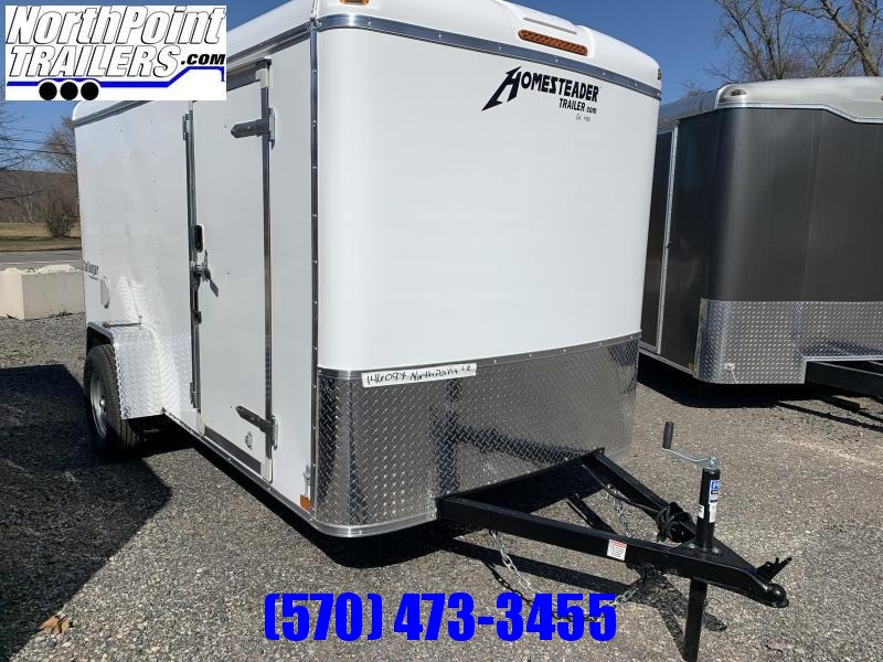 2021 Homesteader 612CS - 6x12 Cargo Trailer - WHITE - Ramp Door - ON ORDER