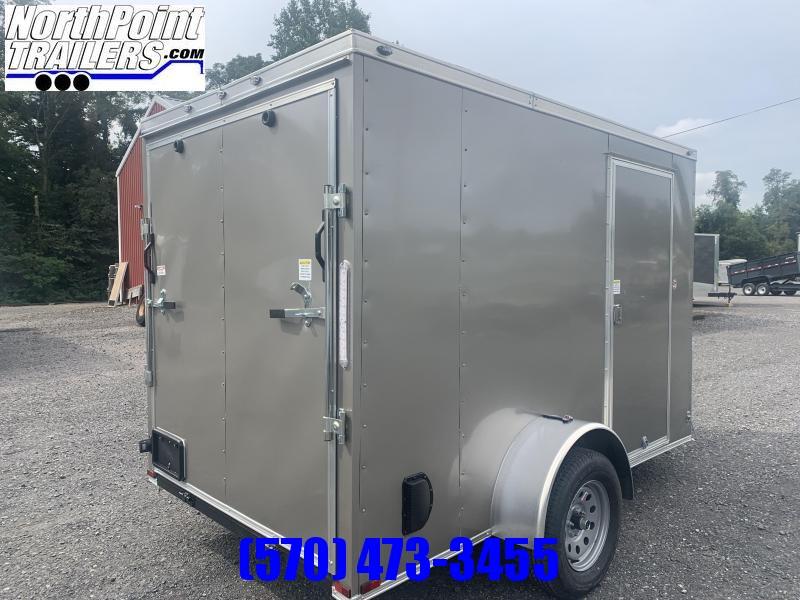 2022 Spartan SP6x10SA Cargo Trailer - Pewter - Ramp Door - 7' Interior