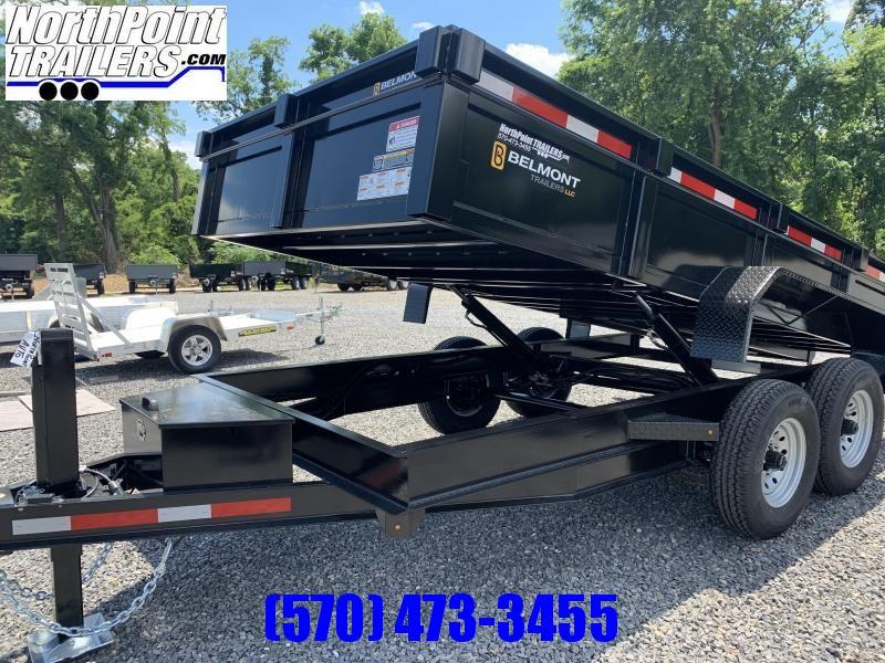 """2020 Belmont DTL 81"""" x 14' Dump Trailer -14K GVWR - 12k Hydraulic Jack"""