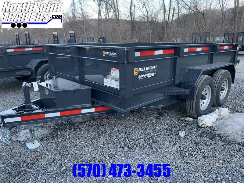 "2021 Belmont DTL 81"" x 12' Dump Trailer -12K GVWR"