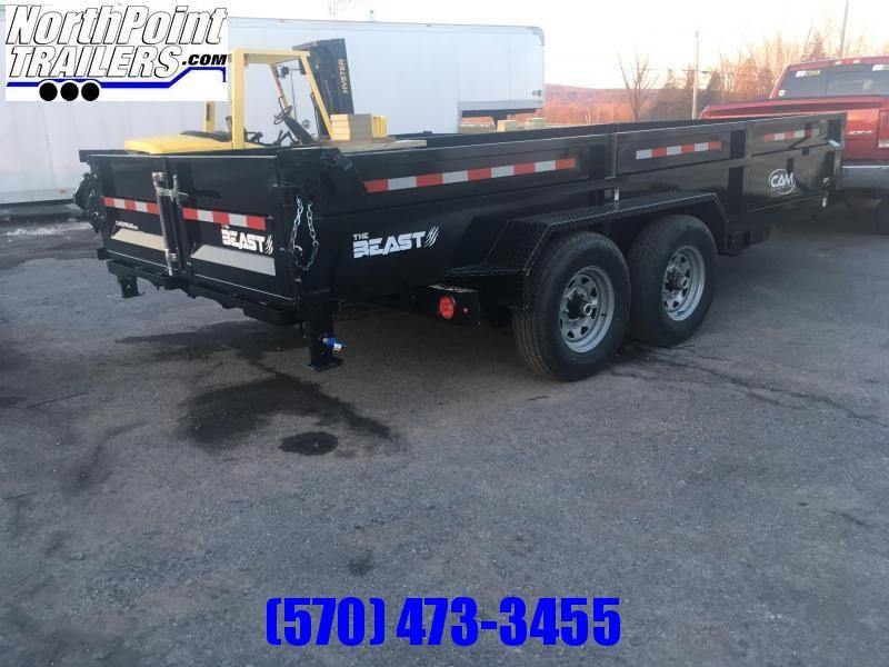 "2022 CAM 7x16 Heavy Duty ""BEAST"" Dump Trailer - 14000 GVWR - ON ORDER"