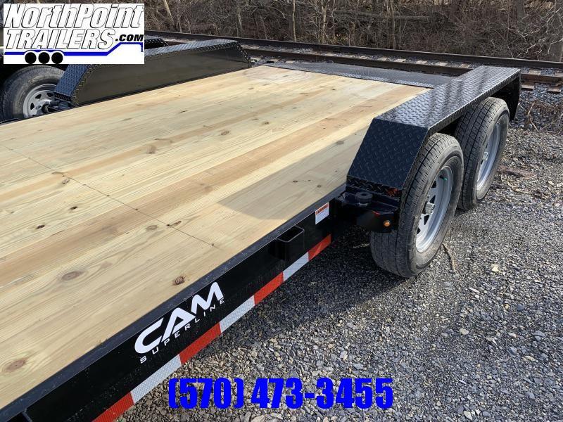 2021 Cam Superline 18' Car Hauler - w/ Removable Fenders - BLACK
