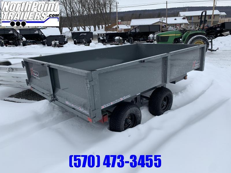 "2022 XRT-418 - 66"" x 108"" Dump Trailer -Gray - Barn Doors w/ Slide Out Ramps"