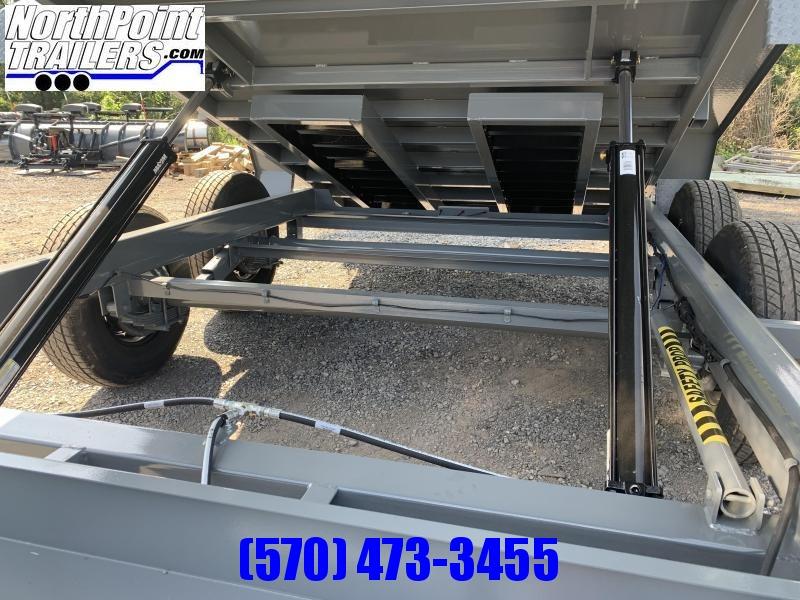 2021 CAM Advantage 7x14 - 14K Heavy Duty Dump Trailer - Gray