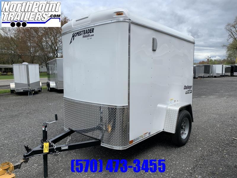 2020 Homesteader 508CS - 5x8  Cargo Trailer - White - Ramp Door