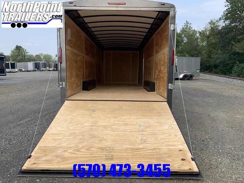 2021 Homesteader - 8.5x24 Herclues Enclosed Trailer w. Ramp Door - Charcoal - Extra Height - 7K Axles